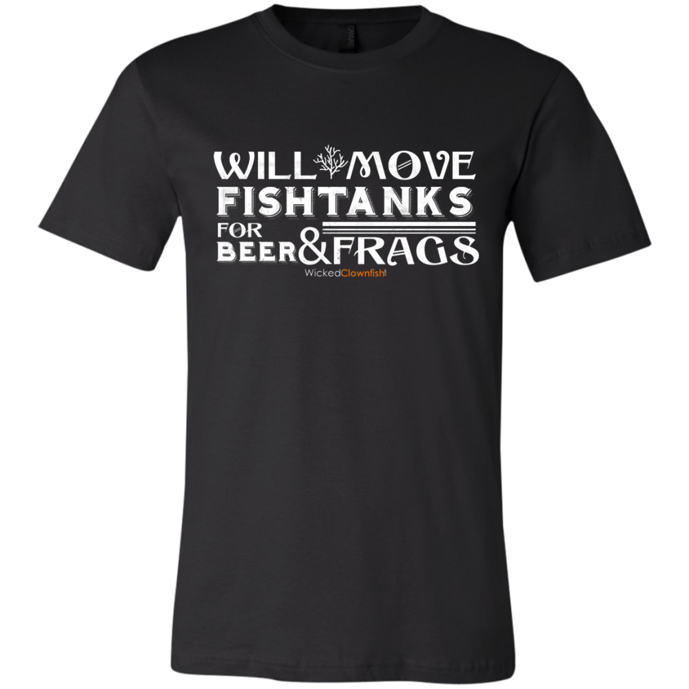 Will Move Fishtanks for Beer & Frags T-Shirt - color: Black