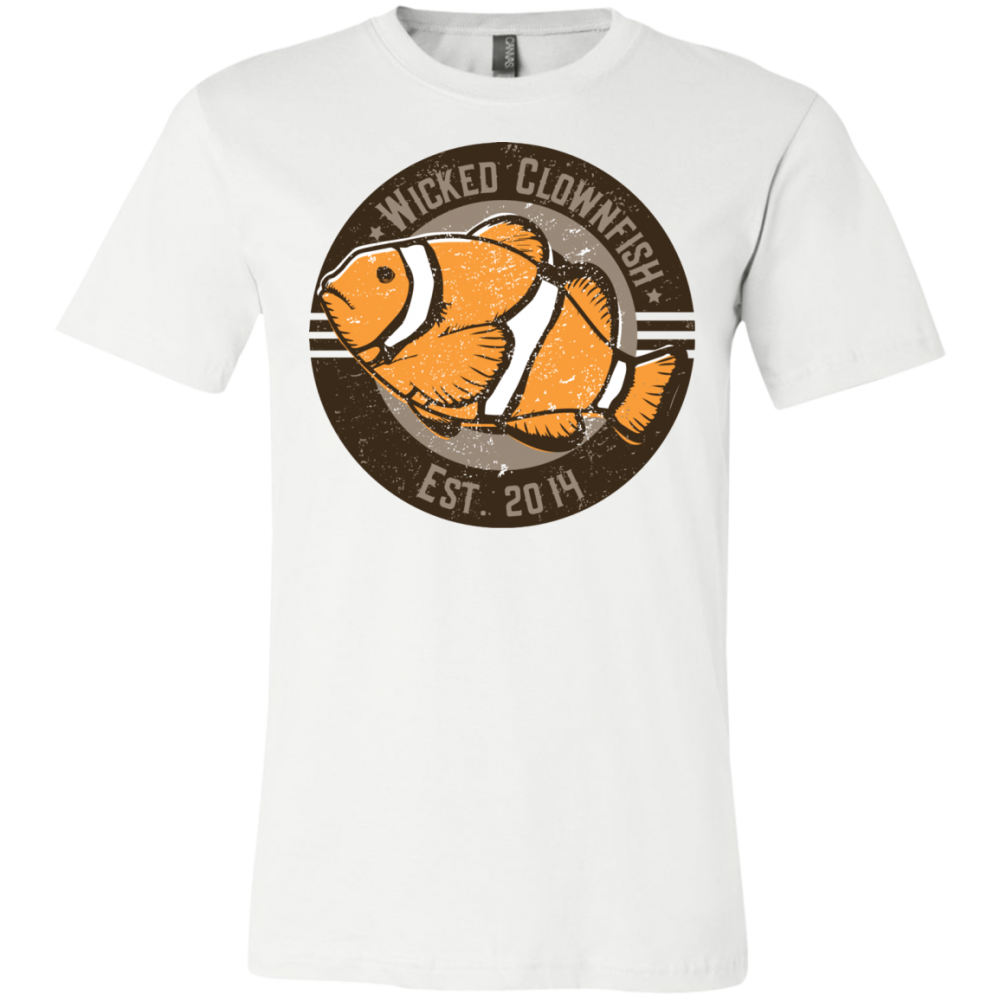 Wicked Clownfish Est. 2014 T-Shirt - color: White