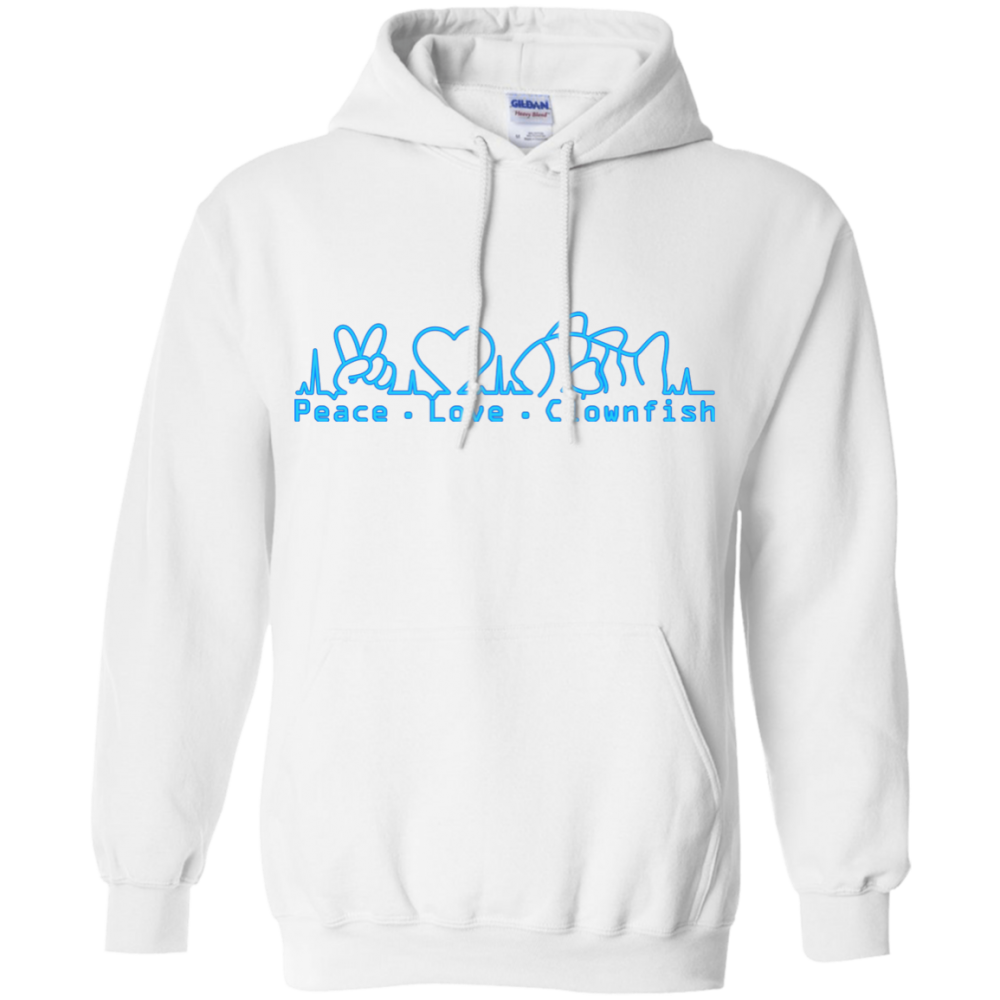 Peace, Love, Clownfish Hoodie - color: White