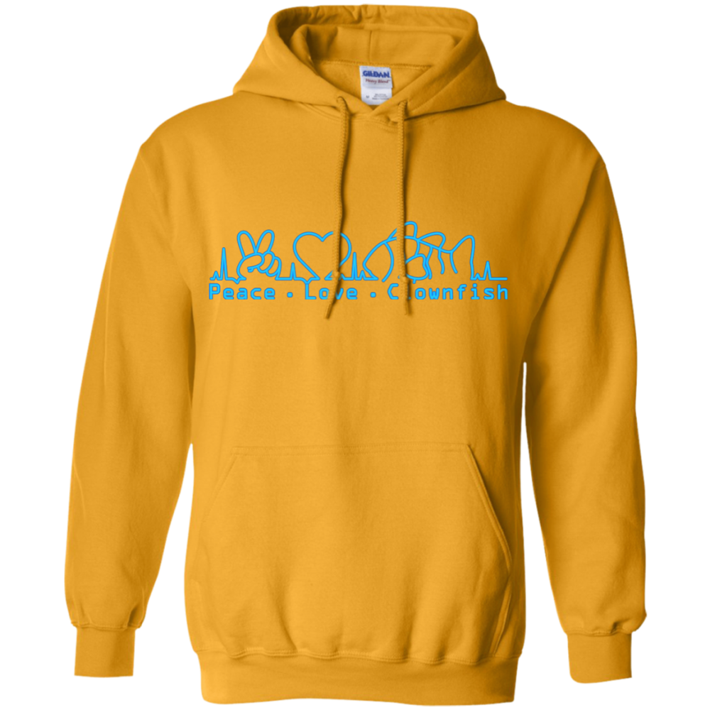 Peace, Love, Clownfish Hoodie - color: Gold